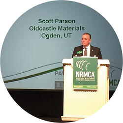 Scott Parson speaking at the National Ready Mixed Concrete Association (NRMCA)
