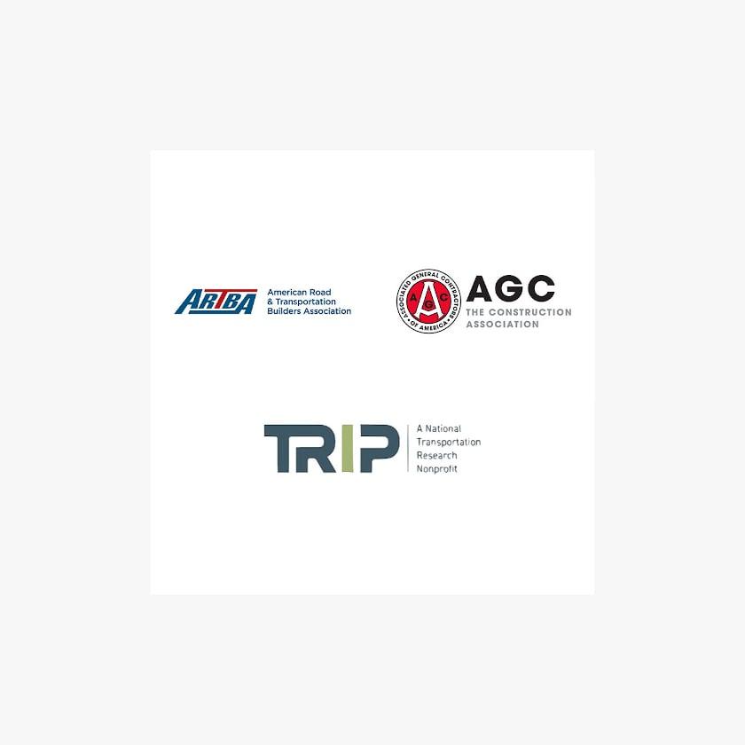 ARTBA, AGC, and TRIP logos