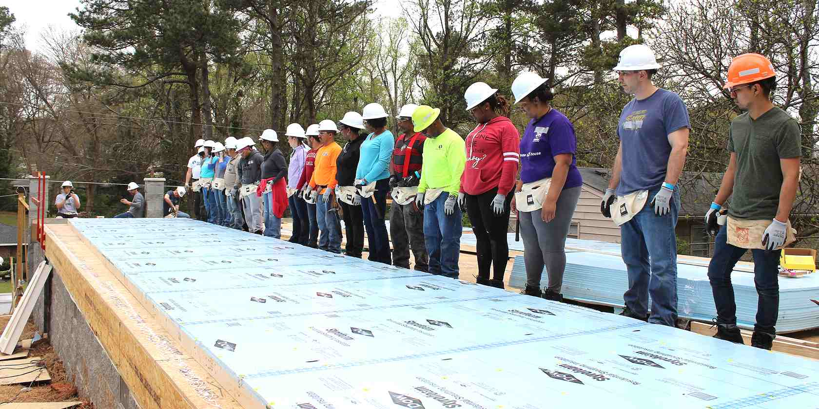 crh team building for habitat for humanity